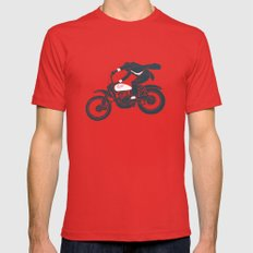 jump Red X-LARGE Mens Fitted Tee