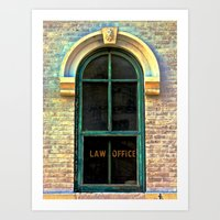 law Art Prints featuring Law Office by Biff Rendar