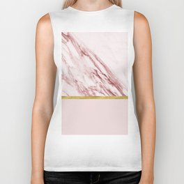 Alabaster rosa & gold on blush Biker Tank