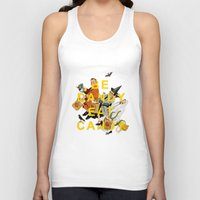 eat Tank Tops featuring Be Dandy Eat Candy by Heather Landis