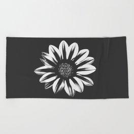 Dark Flower Beach Towel
