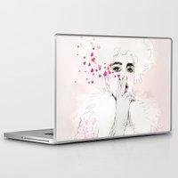 fashion illustration Laptop & iPad Skins featuring FASHION ILLUSTRATION 9 by Justyna Kucharska