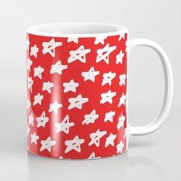 Stars on red background Coffee Mug