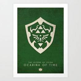 The Legend of Zelda: Ocarina of Time - Nintendo 64 Minimalist Art Print