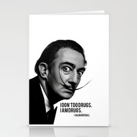 salvador dali Stationery Cards featuring Salvador Dali by Pancho the Macho