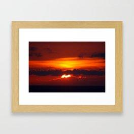 9:24 pm Framed Art Print