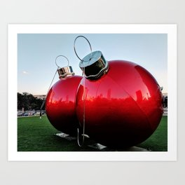 Great Balls of Christmas! Art Print