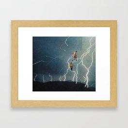 lighting Framed Art Print