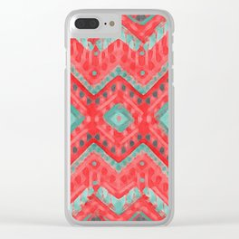 itzel - watermelon + teal Clear iPhone Case