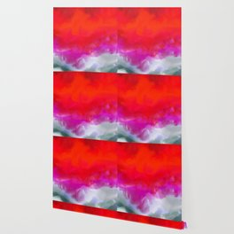 Abstract in Red, White and Purple Wallpaper