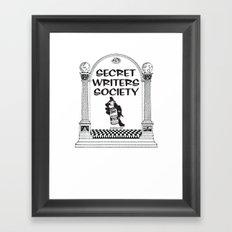 Secret Writers Society  Framed Art Print
