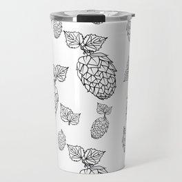 Hops pattern with leafs Travel Mug