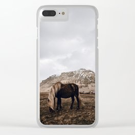 Wild Horse / Iceland Clear iPhone Case