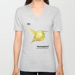 Hh - Honeybird // Half Hummingbird, Half Honeydew Melon Unisex V-Neck