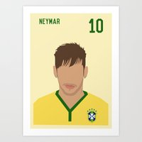 neymar Art Prints featuring NEYMAR by Anthony Morell