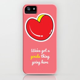Cheesy Hearts - Gouda iPhone Case