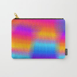 Psychedelic Rainbow Heat Waves Carry-All Pouch