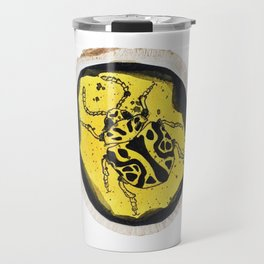 Beetle Ink Wood Design Travel Mug
