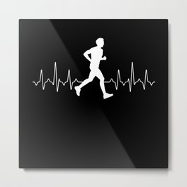 Jogging Heartbeat Metal Print