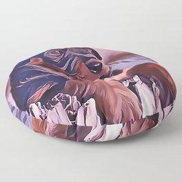 Rottweiler Puppy at the Beach Floor Pillow