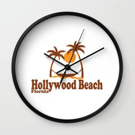 Hollywood Beach - Florida. Wall Clock