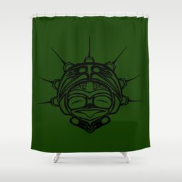 Ink Frog Grass Shower Curtain