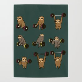 OLYMPIC LIFTING SLOTHS Poster