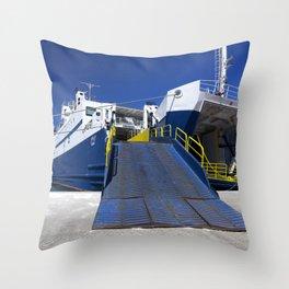 Ionian ferry Ramp Throw Pillow