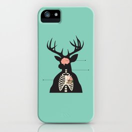 Reindeer Anatomy iPhone Case