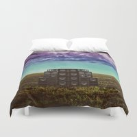 sonic Duvet Covers featuring Sonic Field by Nope