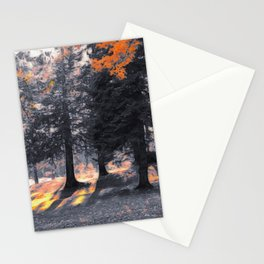 Fall Sunset in the Northwoods Stationery Cards