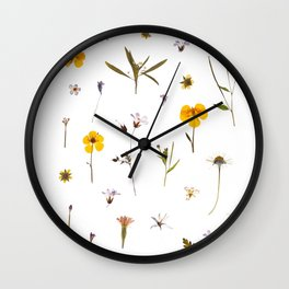 Wild flower meadow Wall Clock