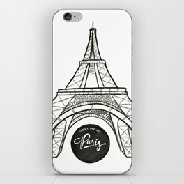 meet me in paris iPhone Skin