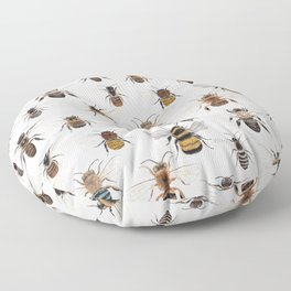 A Collection of Native Bees Floor Pillow