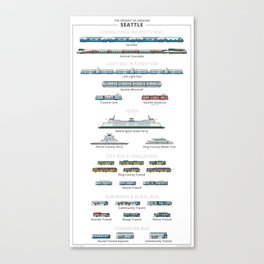 Guide - The Transit of Greater Seattle Canvas Print