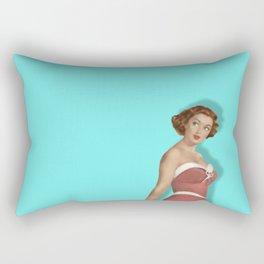 Sweet Blue Rectangular Pillow