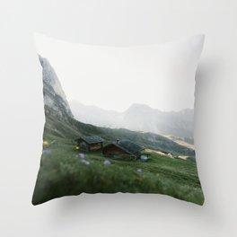 Italian mountain scenery Throw Pillow