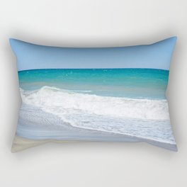 Sandy beach and Mediterranean sea Rectangular Pillow