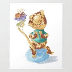 Camelot & Bee Art Print