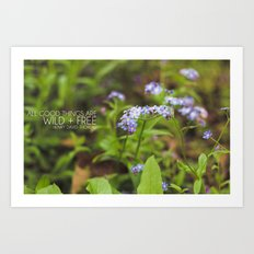 wild + free. Art Print