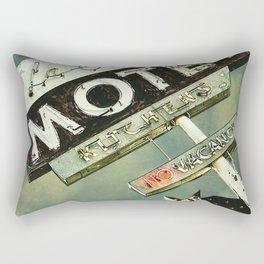 La Crescenta Vintage Motel Sign Rectangular Pillow