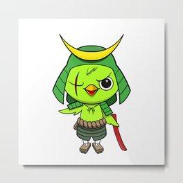 Samurai Bird Metal Print