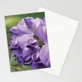 Wisteria Flower paint like Stationery Cards