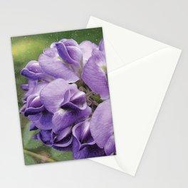 Wisteria Flower paint like Stationery Cards