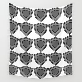 shields in shades of grey Wall Tapestry