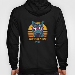 Awesome Since 1996 Cool Birthday Cat Hoody