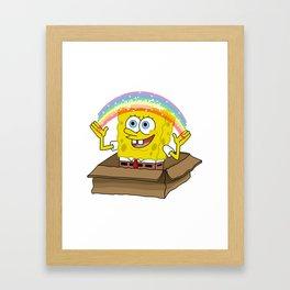 spongebob squarepants imagination Framed Art Print