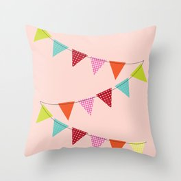 Hooray for girls! Throw Pillow