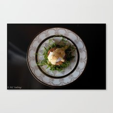 Cajun Eggs Benedict Canvas Print