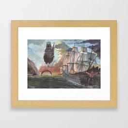 At the edge of the world. Framed Art Print